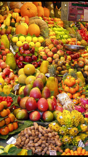 fruit at a foreign market