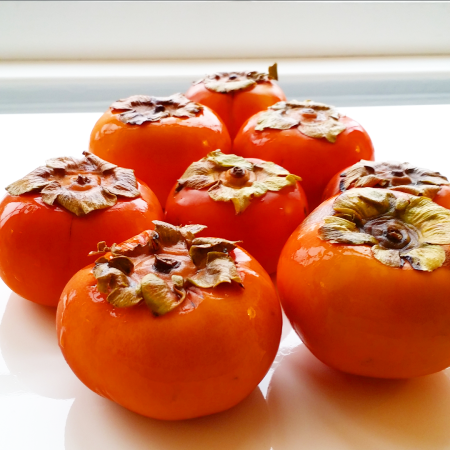 Persimmon on counter
