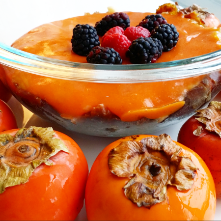 Persimmon pie bowl