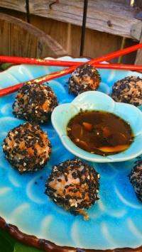 Vegan Sushi Balls & Wasabi Sauce
